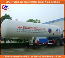 ASME standard 2 axle LPG tanker trailer for propane