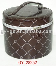 Round Zipper Box With Handle,gift box, cosmetic case