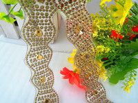 Bling Wholesale Clear Glue Hotfix Rhinestone Appliques Waist Belt