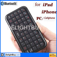 New Mini Keyboard Bluetooth Ultra Slim For PS3 Mac OS Android PC PDA Black