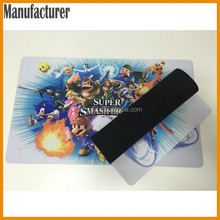 "AY 14""x24""x1/16 Fabric Surface Rubber Backed Printed Game Mat For Card Playing"