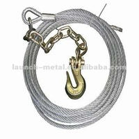 hoisting stainless,pvc coated/galvanized,ungalvanized/alloy,unalloy steel wire rope strand with hemp,cotton core or metal core
