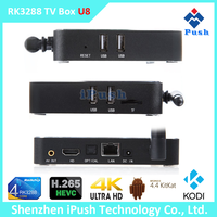 U8 hot sell smart tv box wifi RK3288 quad core android 4.4 streaming set top box 2015 best android tv box xbmc