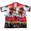 camisa havaiana para homens e mulheres em férias