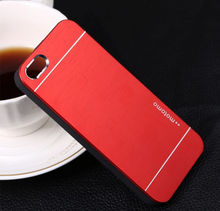 Hard Back TPU Aluminum Brushed Metal Case Cover For iPhone 6+, For iPhone 6 Motomo Case Cover