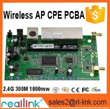 full inspection OEM/ODM 300M 1P Wan+4p LAN 802.11b/g/n protocol External antenna 2.4G wifi Wireless AP Reallink router board