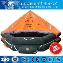 Davit-launched inflatable life rafts/floating raft
