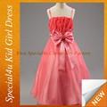 Las muchachas de flor roja de lujo trajes de vestir para los niños SFUBD-1028