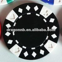 standard poker chip size