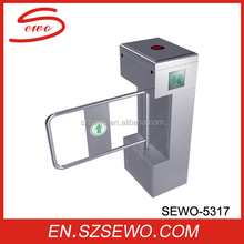 SEWO security entrance gates half- height turnstile with security camera system