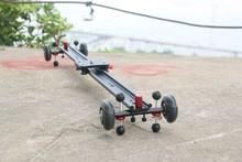 Upgrade design DSLR Camera Video Slider with wheels 1.2M