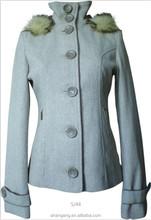 European and American big new women's woolen for women's wool coat