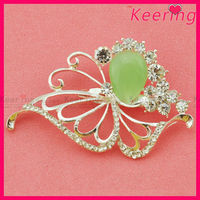 fashion design color rhinestone pearl brooch pin for New Year