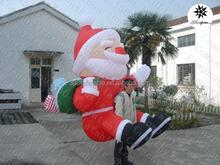 2.5mH Factory price cheap portable indoor inflatable Christmas decorative cartoon Santa Claus