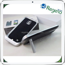 Portable External Battery Case for Samsung Galaxy S4 i9500 3200mah Power Leather Flip Case