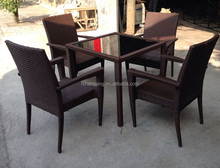 Panama Square 4 seat Dining Set with Arms Australia Mimosa Outdoor Weave Furniture