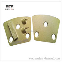 Epoxy PCD diamond grinding pads for floor coating removal