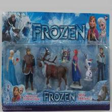 Movie Frozen Figure Play Set Anna Elsa Hans Kristoff Sven Olaf 6pcs set classic toys