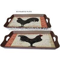 Comfortable decorative rooster plates & custom decorative plates wholesale
