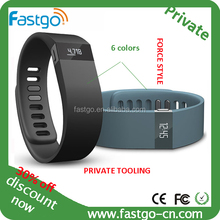 fashion silicone watch bracelet with bluetooth function/Digital bracelet watch