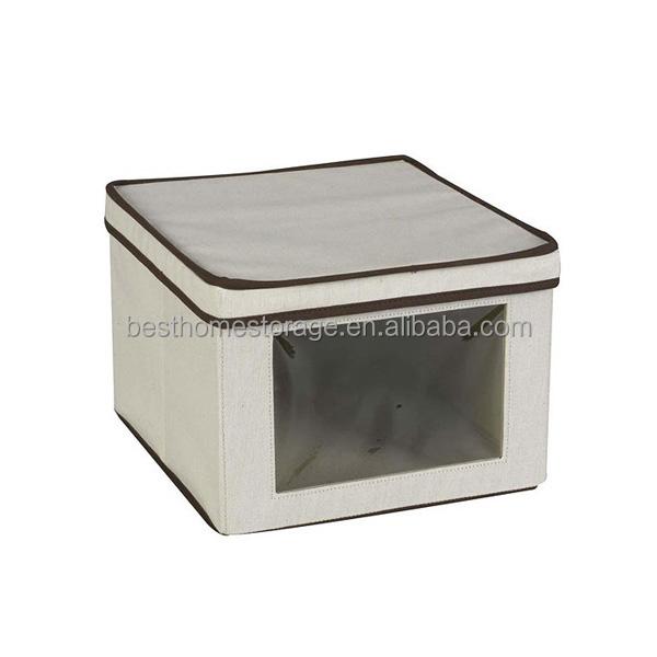 New Ikea Canvas Fabric Toy Storage Box Foldable Storage Box With Clear