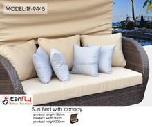 new design outdoor furniture sun bed with canopy