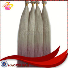 Hair Weaving Two Tone Ombre Color Silky Straight Hair Extension