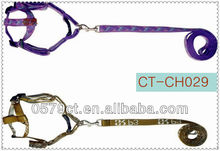 Embroider dog leash with harness from China Zhejiang