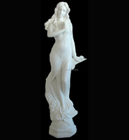 Beautiful New Design White Marble Nude Woman Statue