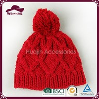 Hot sale high quality trendy fashionable warmer knitted hat