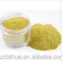 PET Gold Glitter Powder , Epoxy Coated For Fashion Accessories