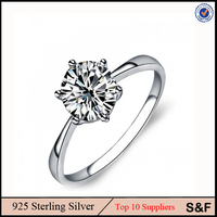 Wholesale Price 925 Finger Wedding Jewelry 925 Sterling Silver Diamond Ring