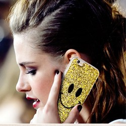 Famous Star Celebrity Cute Smile Case for iphone 5 6 iphone6 Plus Bling Bling TPU and PC Cover - Retail Packaging