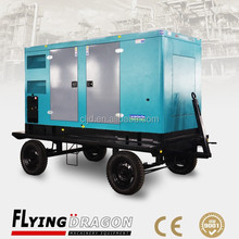 portable silent dynamo generators 180kw moveable generator electricity 225kva