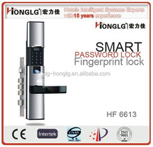High security fingerprint door lock system for villa,office,government and school using