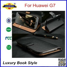 Luxury Book Style Wallet Leather Case for Huawei Ascend G7