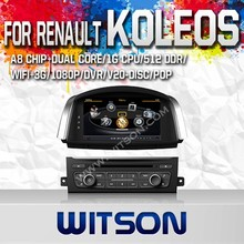 WITSON FOR RENAULT KOLEOS 2014 DASH BOARD CAR DVD WITH RAM 8GB FLASH RDS STEERING WHEEL SUPPORT