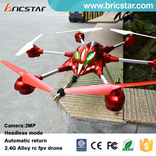 Headless mode 5.8G photo transmission rc FPV alloy china quad copter, hd camera drone professional with lights.