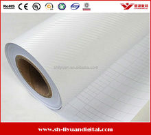 Carbon Fiber Vinyl White for Car Wrap, 3D Carbon Fiber Film High Quality