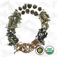 Organic loose teas, blooming teas and herbal tea blends