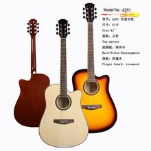 A201use spruce top distinctive no brand acoustic guitar, wholesale acoustic guitar