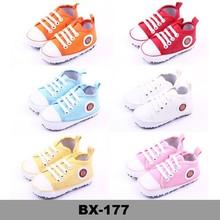 Prewalker Infant Sweet Canvas Sneaker Anti-skid Soft Shoes Trainer Blue