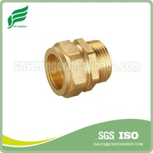 Brass straight union male connector