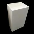 praça glacier white acrílica pura superfície portáteis banheiro pia