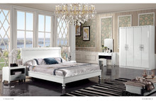 608 latest fashion design king size bedroom furniture in white color 2015