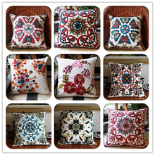 High Quality Household Embroidery Cotton Pillow Case Cover Sofa Chair Office Car Seat Squire Geometric Cushion Cover