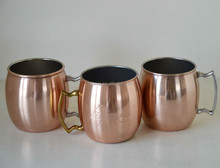 Stainless steel solid copper mug plated Old Dutch International Moscow Mule