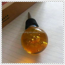 2015 Yellow Crystal Sphere Wine Bottle Stoppers For Wedding Decorations