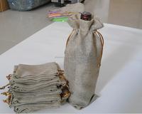 Single bottle jute wine bag/canvas wine bag/bottle wine bag cotton