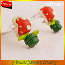 PRIMERO New Summer Style Fashion New Handmade Polymer Mario Piranha Plant cartoon earrings Stud Earrings for Women